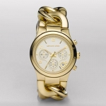 นาฬิกาข้อมือ Michael Kors MK3131 Gold-Tone Runway Midsized Watch Size 38 mm