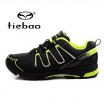 รองเท้าจักรยานเสือภูเขาแบบผ้าใบ TIEBAO รุ่น TB22-B1285 สีดำเขียว