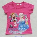 H&M : เสื้อยืดสกรีนลาย Frozen สีชมพู size : 6-8y