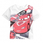 H&M : เสื้อยืดพิมพ์ลาย Car สีขาว (งานช้อป) size : 1-2y