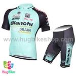 ชุดจักรยานแขนสั้นทีม Bianchi 15 (13) DRAIN สีเขียวดำ สั่งจอง (Pre-order)