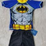 ชุดว่ายน้ำ 3 ชิ้น เสื้อ+กางเกง+หมวก Batman สีน้ำเงิน size : L (4-5y) / XXL (6-7y)