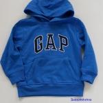 Gap : เสื้อกันหนาวแบบสวม ปักโลโก้ Gap สีน้ำเงิน ข้างในบุผ้าสำลี size : XS (4-5y)