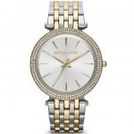 นาฬิกาข้อมือ Michael Kors MK3215 Michael Kors Darci Silver Dial Two-tone Ladies Watch MK3215