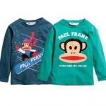 เสื้อแขนยาว H&M ลาย PUAL FRANK สีน้ำเงิน size : 8-10y / 12-14y