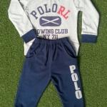 carter's : set เสื้อแขนยาว+ขายาว (แขนขาจั๊ม) สีเทา size : 2T (1-2y)