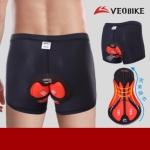 กางเกงจักรยาน Boxer VeoBike กางเกงสีดำ เป้าเจลสีแดงดำ สั่งจอง (Pre-order)