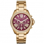 นาฬิกาข้อมือ Michael Kors MK6290 Michael Kors Wren Fuchsia Crystal Pave Gold-tone Stainless Steel Ladies Watch MK6290