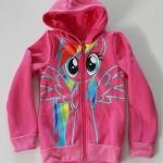 H&M : เสื้อแจ็กเก็ต กันหนาว ลายม้าโพนี่ ด้านหลังมีปีก สีชมพู size : 1-2y / 2-4y