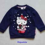 H&M : เสื้อแขนยาว กันหนาว Heloo Kitty สีกรม ข้างในบุผ้าสำลี มีกระดุมที่บ่า size : 4-6m / 6-9m