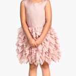 H&M : Ruffled Dress เดรสกระโปรงระบายชั้นๆ สีชมพู ( size 1.5-2y / 8-10y )