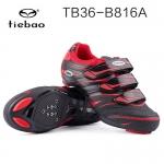 รองเท้าจักรยานเสือหมอบ TIEBAO รุ่น TB36-B816A สีแดงดำ สั่งจอง (Pre-order)