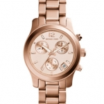 นาฬิกาข้อมือ Michael Kors MK5430 Small Runway Rose Gold Tone Dial Chronograph Ladies Watch Size 33 mm