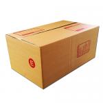 กล่องไปรษณีย์ฝาชนเบอร์ E (ขนาด จ) ขนาด 24 X 40 X 17 cm. ใบละ 7.5 บาท
