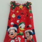 Zara : เดรสพิมพ์ลาย มิกกี้มินนี่ โดนัลดัก สีแดง Size : 1y / 3y