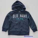 Old Navy : แจ็คเก็ทซิปหน้า มีฮูด สีกรม size 2T