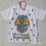 เสื้อยืด Transformers สีขาว (ตรงหน้ากากจะนูน) size : L (8-10y)