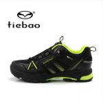 รองเท้าจักรยานเสือภูเขาแบบผ้าใบ TIEBAO รุ่น TB22-B1335 สีดำเขียว สายสลิงหัวบิดรัดสายออโต้ สั่งจอง (Pre-order)