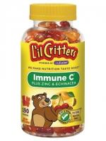 L'il Critters Immune C® Plus Zinc & Echinacea Natural Fruit -- 190 Gummy Bears