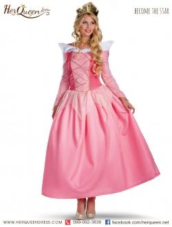 เช่าชุดแฟนซี &#x2665 ชุดแฟนซี เจ้าหญิงนิทรา สีชมพู