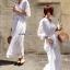 Maxi Dress สีขาว thumbnail 4