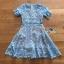 เดรสสั้นผ้าลูกไม้สีฟ้าสดตกแต่งระบายสไตล์เฟมินีน thumbnail 11