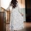 Dress ยาว สีครีม สไตล์คุณหนู thumbnail 5