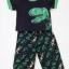 Carter's : ชุดเสื้อ สกรีนลายไดโนเสาร์ สีดำ + กางเกงพิมพ์ลายไดโนเสาร์ size 12m thumbnail 1
