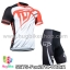ชุดจักรยานแขนสั้นทีม Fox 14 (02) สีขาวดำแดง