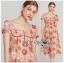 เดรสผ้าลูกไม้ทอลายดอกเดซี่สีพีช thumbnail 6