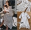 เดรสยาวผ้าเครปและลูกไม้สีขาวสไตล์วินเทจ thumbnail 9