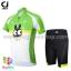 ชุดจักรยานเด็กแขนสั้นขาสั้น CheJi สีเขียวขาวลายกระต่าย thumbnail 1