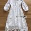 เดรสยาวผ้าเครปและลูกไม้สีขาวสไตล์วินเทจ thumbnail 10