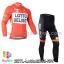 ชุดจักรยานแขนยาวทีม Lotto Belisol 14 สีส้มขาว