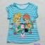 H&M : เสื้อยืดสกรีนลาย Elsa&Anna สีฟ้าลายขวาง Size : 1-2y / 2-3y thumbnail 1