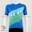เสื้อจักรยานแขนสั้นทีม MAAP 16 (02) สีน้ำเงินฟ้าเขียว