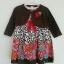 Ashley เดรสผ้าวู่เว่น มีซับใน มาพร้อมเสื้อคลุมสีน้ำตาลปักดอกไม้ thumbnail 1