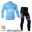 ชุดจักรยานแขนยาวทีม Sky 14 สีฟ้า thumbnail 1