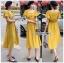เซ็ตเสื้อคร็อปสั้นและกระโปรงสีเหลืองมัสตาร์ด thumbnail 5