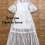 Dress ลูกไม้ตัวยาวคอกลม เนื้อผ้าลูกไม้ซีทรู thumbnail 7