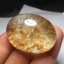 เม็ดโต แก้วขนเหล็กใส+กาบทอง น้ำงาม เม็ดโต เส้นสวย ขนาด 4* 3ขนาดสะสม หรือทำกำไล thumbnail 2