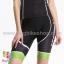 กางเกงจักรยานผู้หญิงขาสั้น Kingbike BATFOX สีดำเขียว