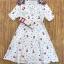 Dress แขนสั้น เนื้อผ้าพิมท์ลายสุดน่ารัก thumbnail 6