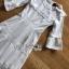 เดรสยาวผ้าคอตตอนปักและฉลุลายสีขาวสไตล์วินเทจ thumbnail 15