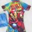 ชุดว่ายน้ำบอดี้สูทลาย Ironman สีฟ้า ซิปหน้า พร้อมหมวกและ ถุงผ้า Size : XS (3-4y) / M (5-6y) / L (6-7y) / XL (7-8y) thumbnail 3