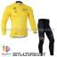 ชุดจักรยานแขนยาว Le tour de france 14 สีเหลือง