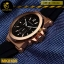 นาฬิกาข้อมือ Michael Kors MK8184 Michael Kors Dylan Chronograph Black Dial Black Rubber Men's thumbnail 4