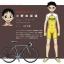 ชุดจักรยานแขนสั้น โอตาคุน่องเหล็ก Hakogaku สีขาวน้ำเงิน สั่งจอง (Pre-order) thumbnail 8