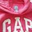 Gap : กันหนาว Gap แบบสวมมีฮูด สีชมพูเข้ม (girl) Size : 5y thumbnail 2