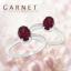 แหวนพลอยประจำวันเกิดวันอาทิตย์ ตัวเรือนเงินแท้ ประดับพลอยโกเมน (Garnet) thumbnail 1
